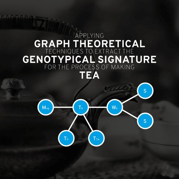 Applying Graph Theoretical Techniques to Extract the Genotypical Signature for the Process of Making Tea